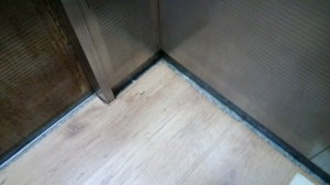 New flooring in elevator